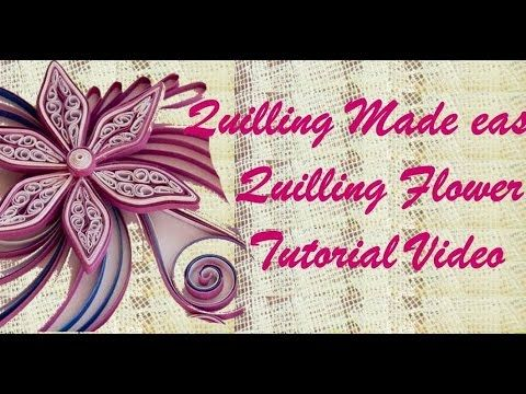 Paper Quilling How to make Beautiful Quilling Pink/White New Flower Quilling -Paper Art Quilling - YouTube