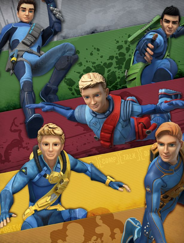 Thunderbird 6 Cartoon Characters : New animated characters from thunderbirds tv series