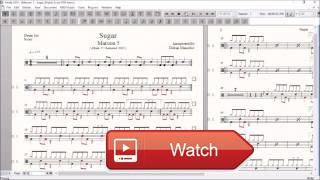 Drum Score World Sample Maroon Sugar  Maroon Sugar You can buy this score here