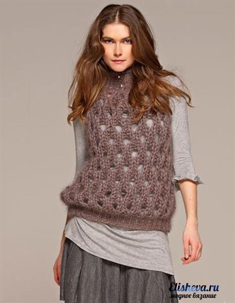 Безрукавки свитера вязаные крючком
