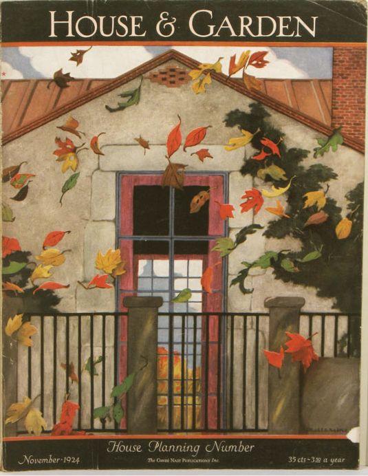 House & Garden - November 1944 - artwork by Ethel Franklin Betts