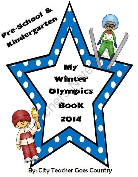 "My Winter Olympics Book - Sochi 2014 - PreK & Kinder from City Teacher Goes Country on TeachersNotebook.com -  (13 pages)  - A fun way to introduce the Winter Olympics to the younger ones. 13 pages where students can create their own ""My Winter Olympics 2014 Book""."