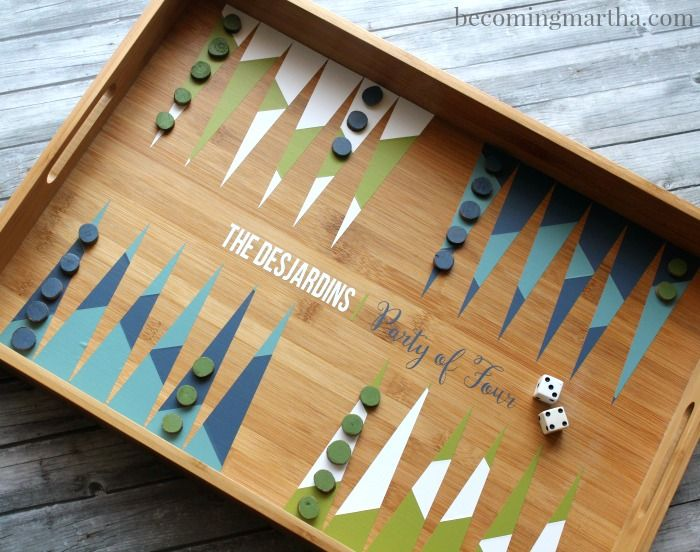 65 best backgammon desing images on pinterest decoration deko diy this geometric backgammon tray with a basic serving tray and some vinyl publicscrutiny Choice Image