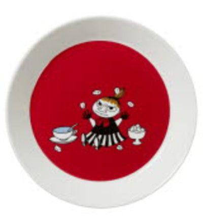 Arabia+Muumi+Pikku+Myy+19+cm+punainen+lautanen+ +Karkkainen.com+verkkokauppa