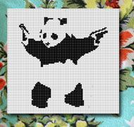Banksy cross stitch - cool AND easy to do!