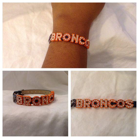 Denver Broncos Orange Rhinestone Football by CharminLovely on Etsy