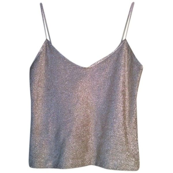 Pre-owned Narciso Rodriguez Sparkle Top Golden Nude (€130) ❤ liked on Polyvore featuring tops, tank tops, shirts, crop tops, gold, gold sparkly top, shirt tops, gold sparkly shirt, gold shirt and crop top