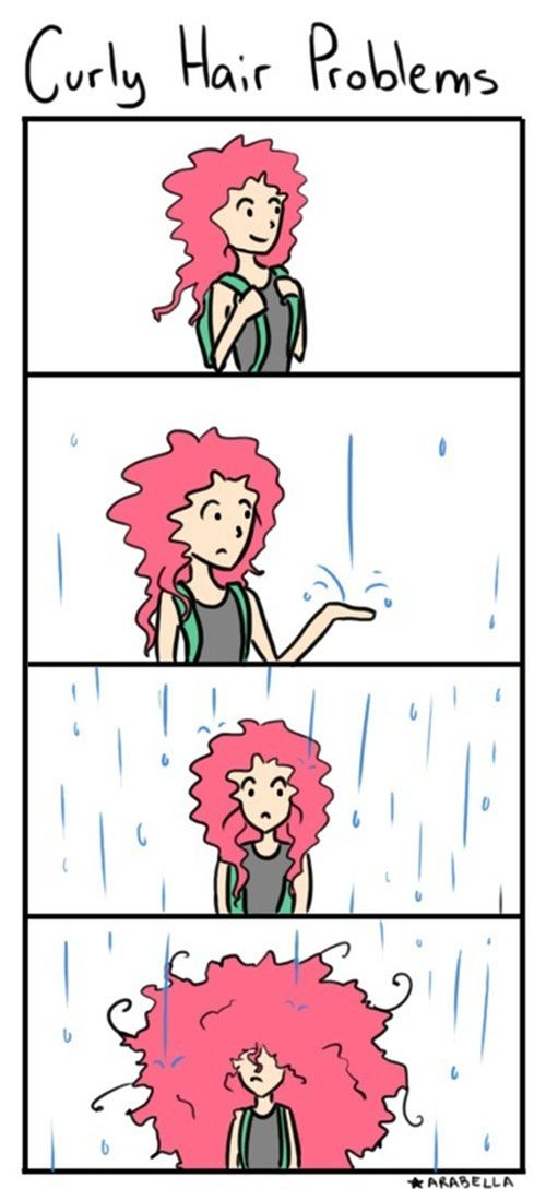 The actual struggle of having curly hair.