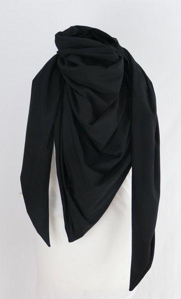Dreieckstücher - Dreieckstuch XXL Wickeltuch Tuch Schal schwarz - ein Designerstück von Sternlinge bei DaWanda