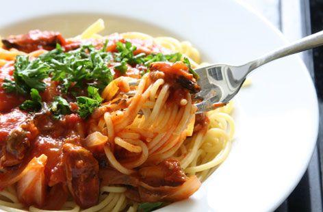 Vegetarian pasta bolognese #meatfree