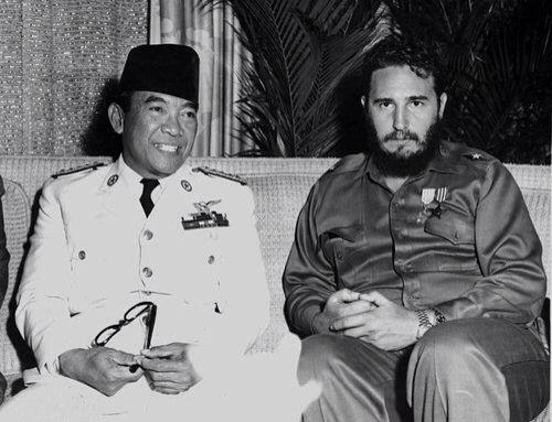 Fidel with Indonesia President Sukamo