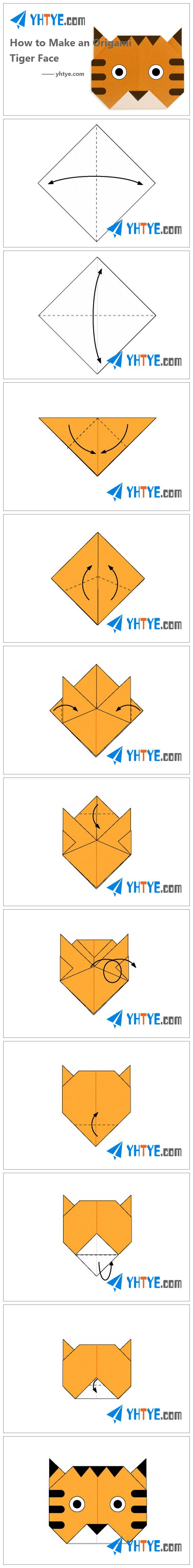 How to Make an Origami Tiger Face