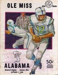 1966 #Alabama vs Ole Miss game program