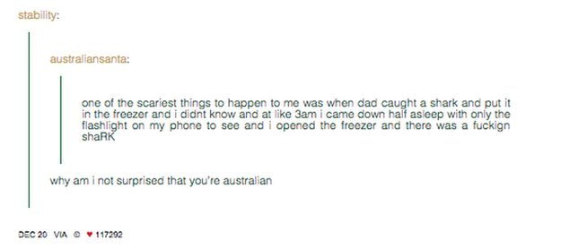 On what really scares Australians: | 47 Times Australians Totally Nailed It On Tumblr In 2014
