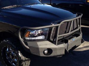 Hammerhead Bumpers - Hammerhead 600-56-0205 Winch Bumper with Full Grille Guard Dodge RAM 1500 2013-2015