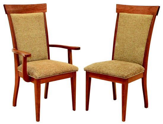 This Chair Features A Fabric Seat Back And Is Available With Or Without Arms Dining Room