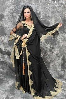 wedding abayas | This is a wedding abaya meant to be worn with a dress underneath. I ...