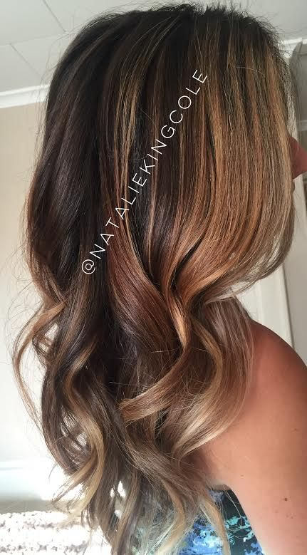 Chocolate brown Fall 2015 hair trends balayage ombre somber L'ANZA healing haircolor hair care long brunette carmel highlights toffee hue warm gold rich dimensional Unite Blow and Set lotion loose waves soft waves Lily Aldridge inspired haircolor Victoria's Secret inspired hair and color