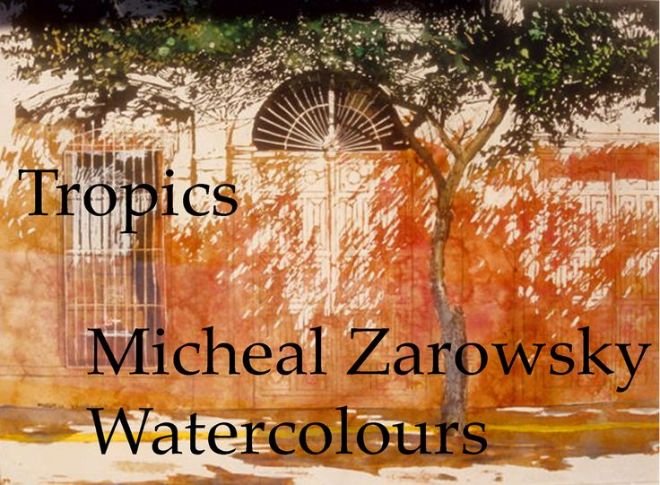 self published book; zarowsky tropics watercolours