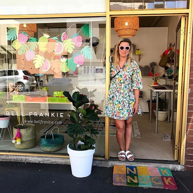 Love everything about this window, from the bunting to the welcome mat (and @gormanclothing dress) 😻 You're looking at @bellfrankieandco in Malvern, Victoria.