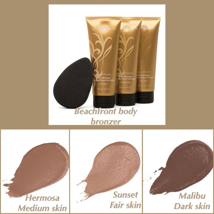 Beachfront body bronzer!!! Makeup for your body perfect for weddings!!!   Www.youniquesarahv.com