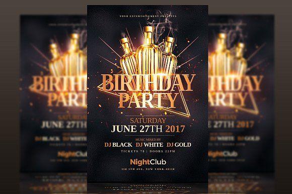 Classy Birthday Party - Flyer Psd by Creative Flyers on @creativemarket