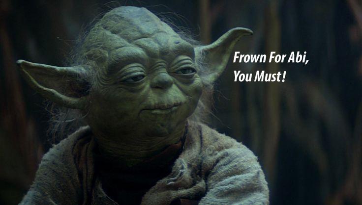 Frown For Abi: Yoda