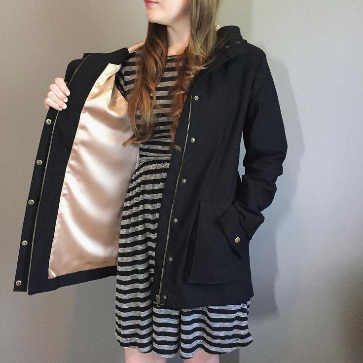 Madeline's lined Kelly Anorak // Closet Case Patterns https://www.instagram.com/p/BUpHiKPBSgK/
