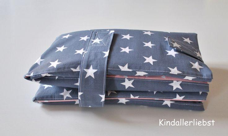Wickeltaschen - ❤️ Wickeltasche mit Wickelunterlage für unterwegs  - ein Designerstück von kindallerliebst bei DaWanda