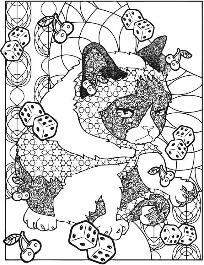 Grumpy Cat Adult Coloring Book