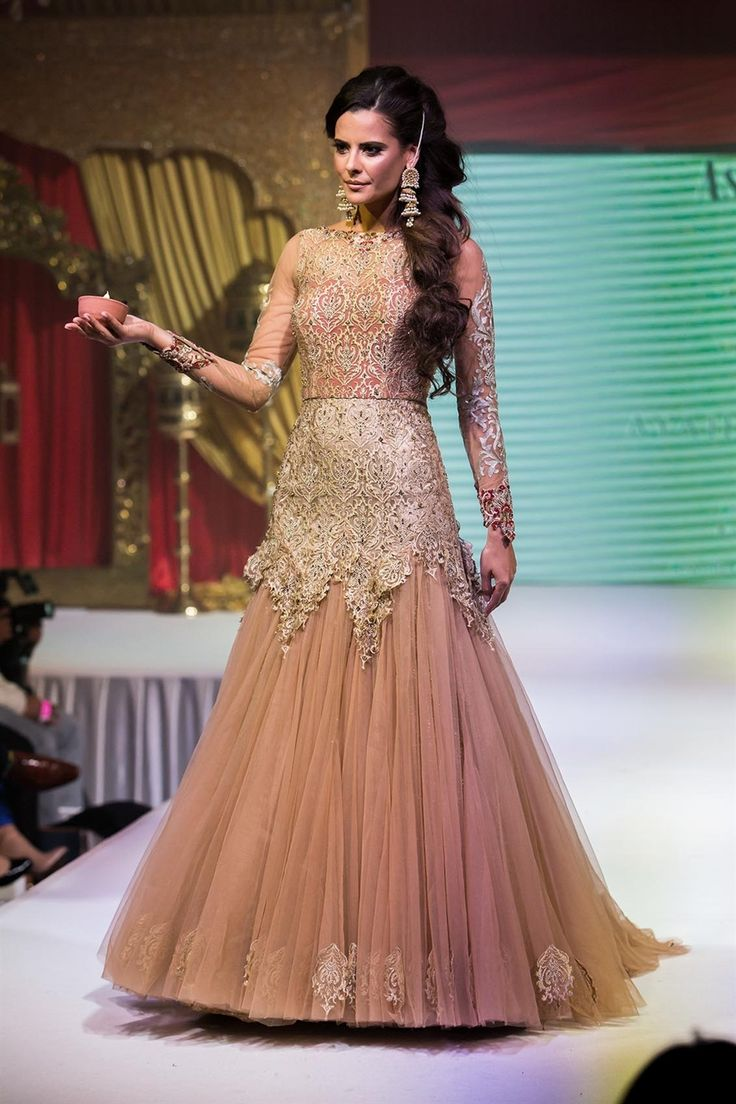 Asian wedding fashion bridal lengha gown from ayah couture for Asian bridal wedding dresses