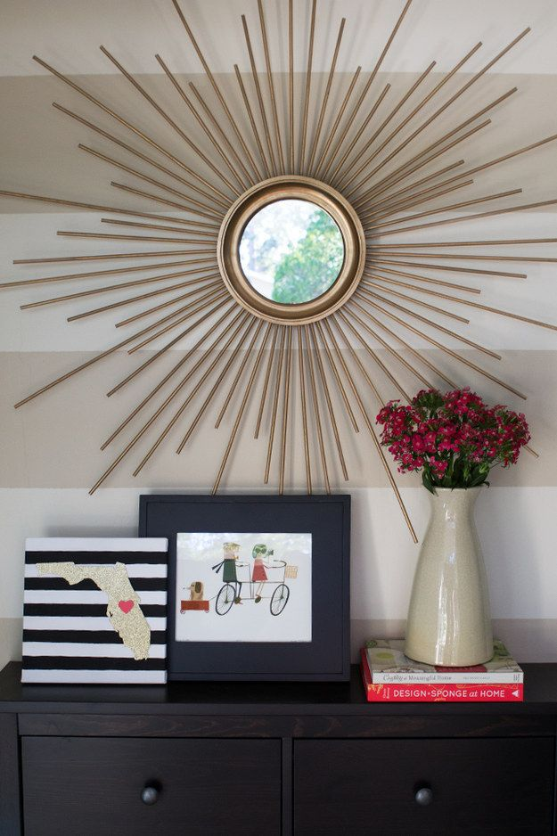 Starburst Mirror | 19 Mid-Century Modern DIYs That Will Save You Tons Of Money
