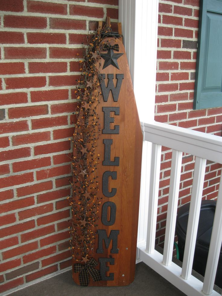 Welcome Ironing Board https://www.facebook.com/pages/Primitive-Country-Treasures/100991083354848