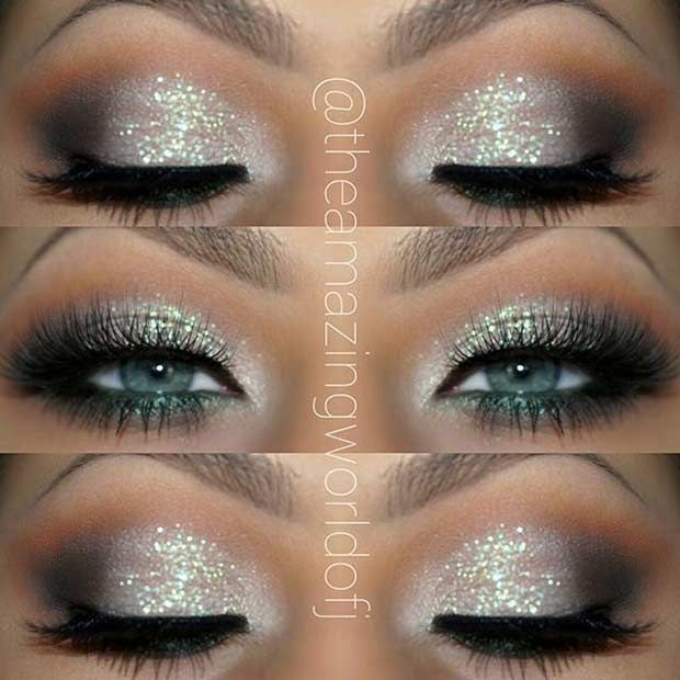 Glittery Eye Makeup Look