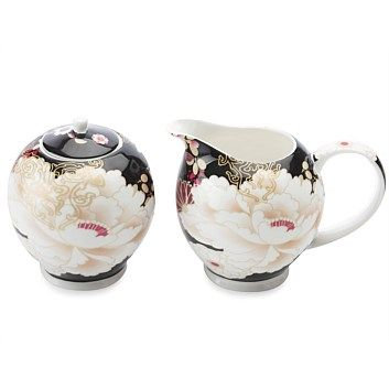 Maxwell & Williams Kimono Sugar And Creamer Black    Now Only $33.74