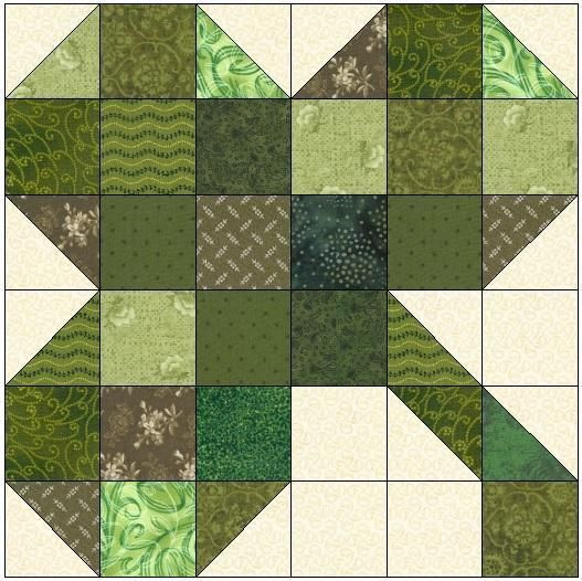 (7) Name: 'Quilting : Three Leaf Clover Quilt Block Pattern