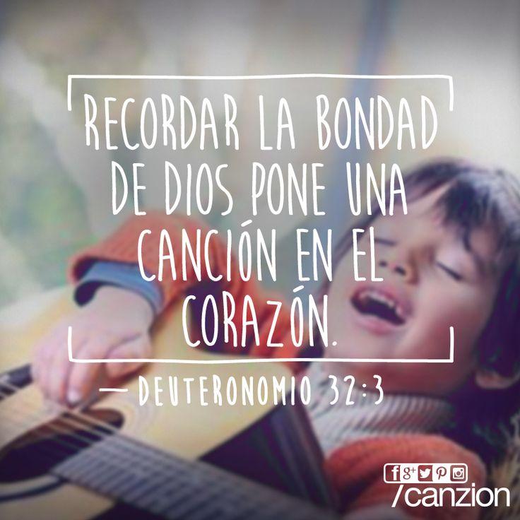 La música es una forma de recordar porciones bíblicas. — «Proclamaré el nombre del Señor; ¡qué glorioso es nuestro Dios!» —Deuteronomio 32:3