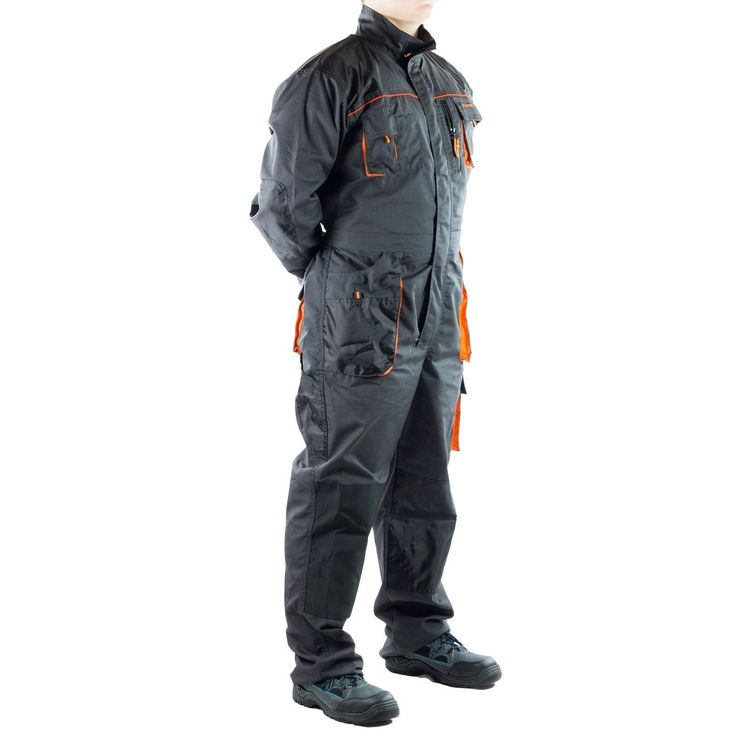 Boiler Suit Coverall. - two pockets at the rear side with Velcro fastening and two double side pockets. -large number of pockets increases suit's functionality. -pockets for KING BEE on-knee pad inserts with reflective trim. | eBay!