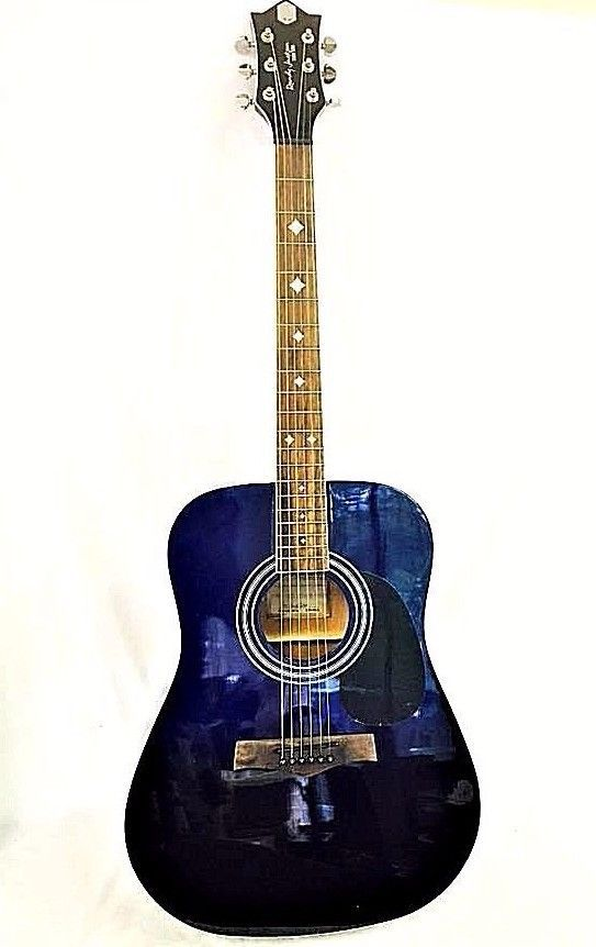 Randy Jackson Studio Series Ombre Acoustic Guitar with Soft Case Blue