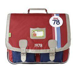Cartable Tann's Coccinelle Rouge-Bleu 41 cm TANN'S - Cartable garçon, sac à dos garçon