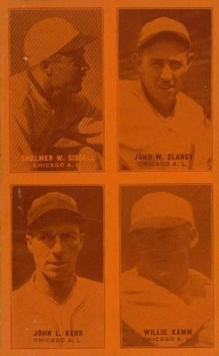 1929-30 Exhibits Four-in-One W463-1 #19 Chalmer Cissell / John W. Clancy / John L. Kerr / Willie Kamm Front