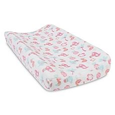 image of Trend Lab® Tropical Pastel Plush Changing Pad Cover
