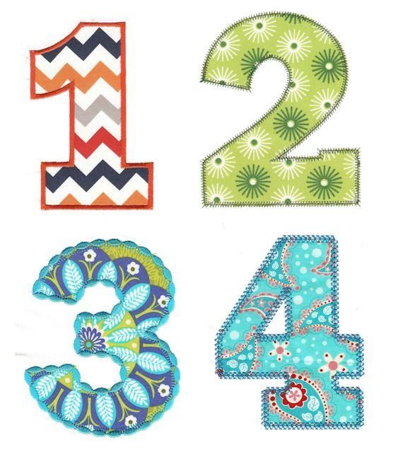 29 Best Numbers Applique Designs Images On Pinterest – Daily