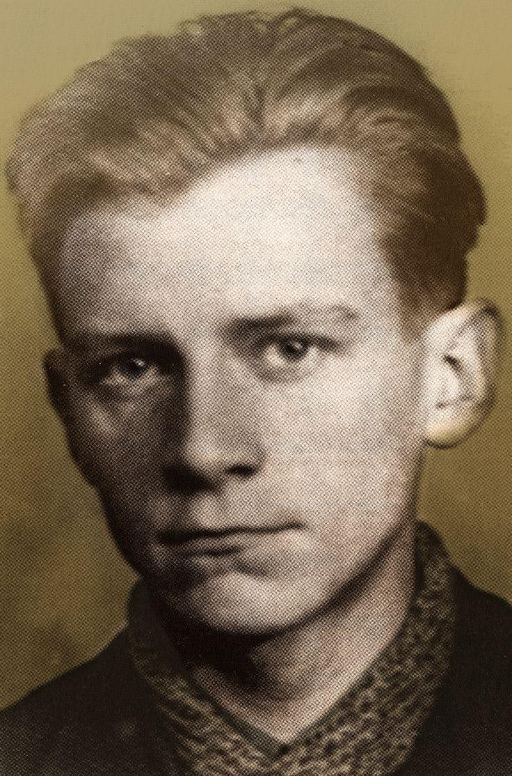 """Jan Roman Bytnar ps """"Rudy"""" (1921- 1943). Jeden z bohaterów książki Aleksandra Kamińskiego Kamienie na szaniec."""