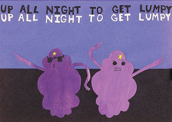Adventure Time: Up All Night to Get Lumpy, with Lumpy Space Princess and Lumpy Space Prince on Etsy,