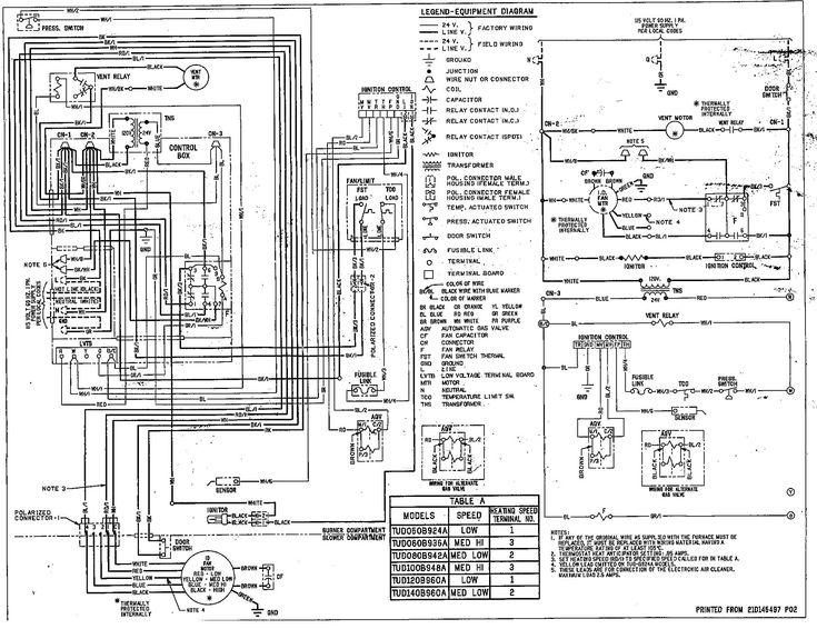 Lennox Furnace Diagram In 2020 Diagram Reznor Heater Trane