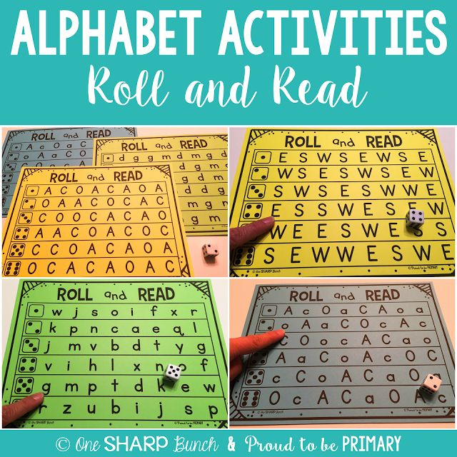 So many great ideas for DIFFERENTIATED alphabet activities... perfect for small groups!  Practice letter fluency with this fun Roll and Read game!