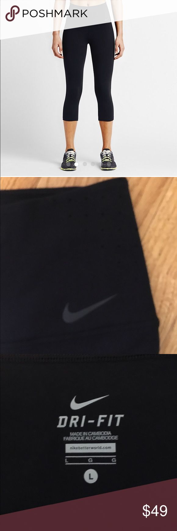 Nike NWOT sculpt training capris High-waisted training capris with figure flattering compression. Perforated waistband for breathable comfort (see pics.) Rear-flattering yoke on back. Never worn - lost the tags and receipt so couldn't return:( Nike Pants Capris