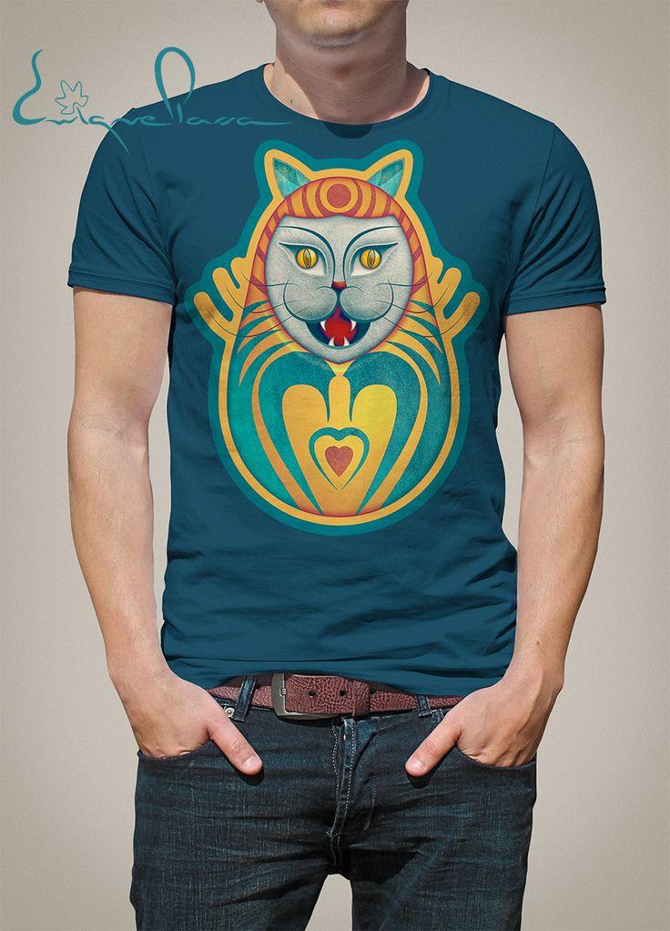 Camiseta Gato. Diseño Enrique Parra