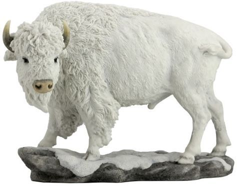 White Bison-Buffalo Statue Sculpture available at AllSculptures.com